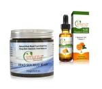 Smyrna Dead Sea Mud Mask and Vitamin C Serum 20% Plus Vegan Hyaluronic Acid